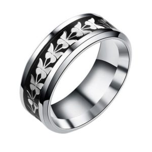 Stainless Steel Vintage Butterfly Totem Ring image