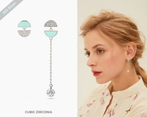Tiffany Style Mismatch Earrings