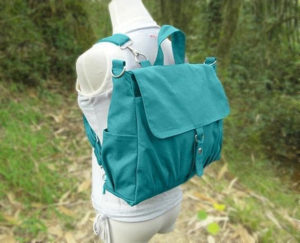 Turquoise Canvas Backpack