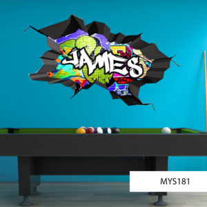 Vinyl Graffiti Wall Decal