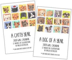 2020 Dog and Cat Lovers Calendars