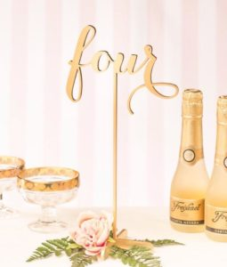 Luxury Wedding Numbers