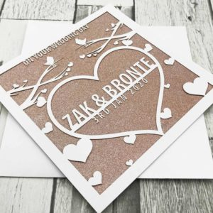 Personalised Lasercut Greeting Cards
