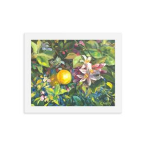 Spring Lemon Blossoms Poster