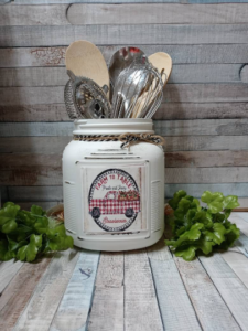 Red Truck Rustic Kitchen Canister Set